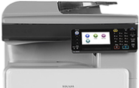 RICOH MP 301SPF Plus Black and White Laser Multifunction Printer