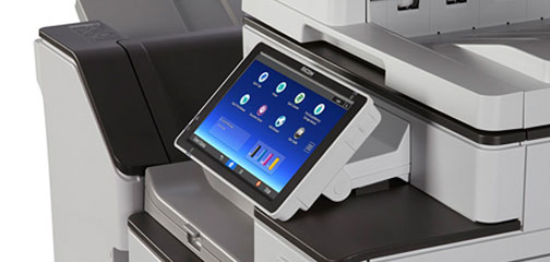 Close up photo of MP C4504 printer