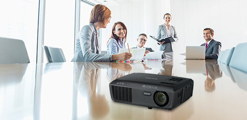 Conference room with PJ S2340 projector