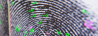 close up of fingerprint