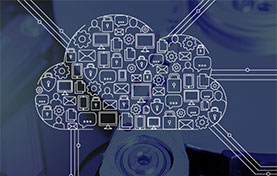 illustration of a cloud made up of devices