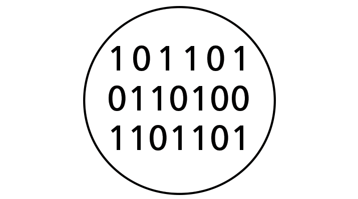illustration of binary code of zeros and ones