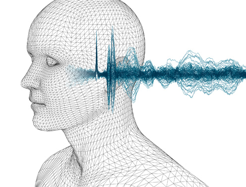 graphic of head and waveform
