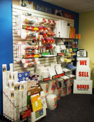 Shop wall of boxing supplies