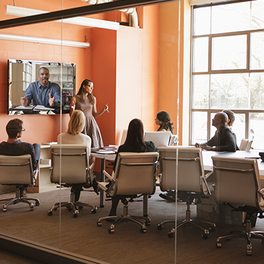 Video Conferencing in office