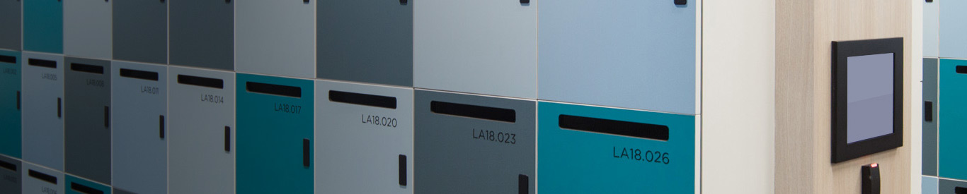 intelligent lockers close up view