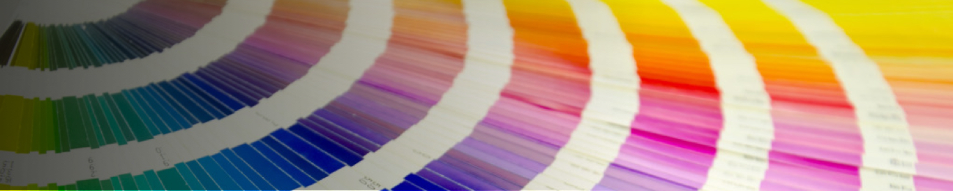 pantone swatches fanned out color matching rainbow