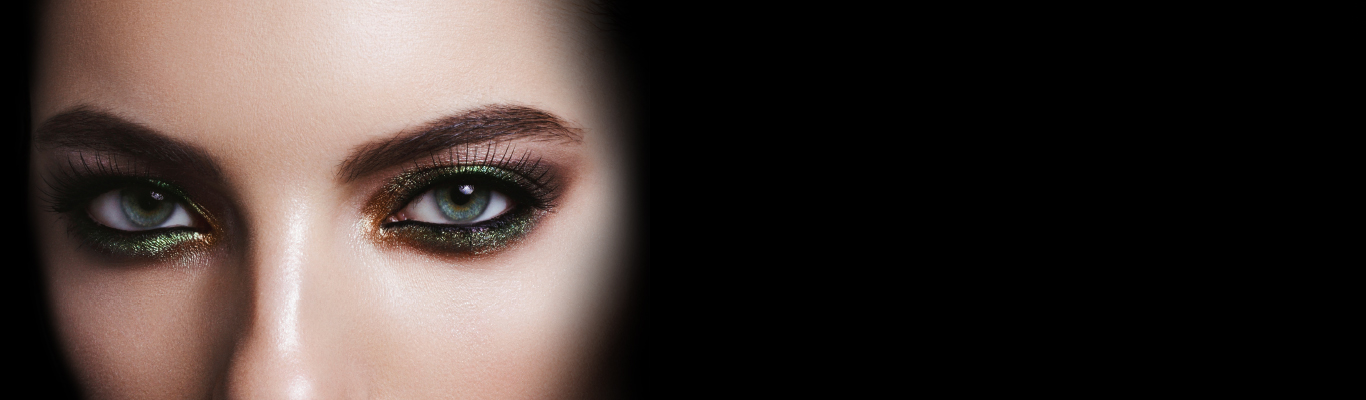 high quality print of fashion girl eyes close up