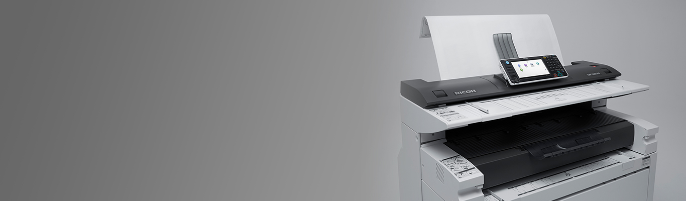 printer on a gray background