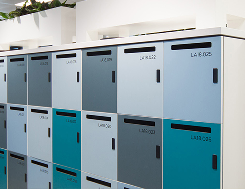 Photo of intelligent lockers