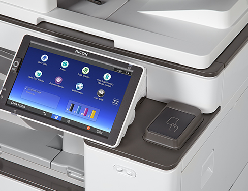 Close up of smart panel on printer