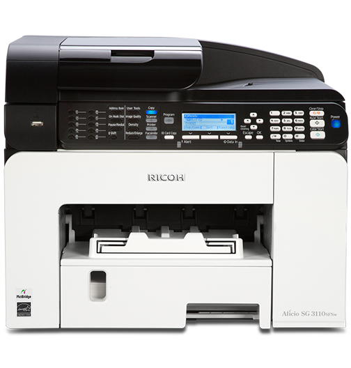 RICOH SG 3100SNw Color GELJET Multifunction Printer