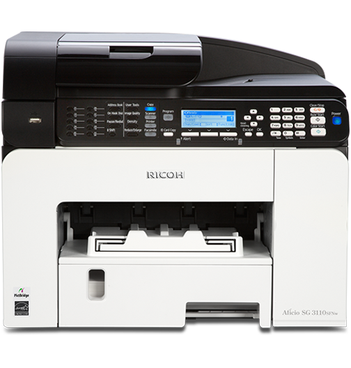 RICOH SG 3110SFNw Color GELJET™ Multifunction Inkjet Printer