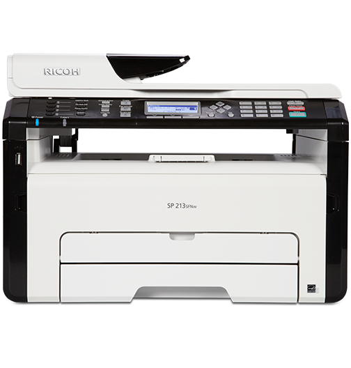 RICOH SP 213SFNw Black and White Laser Multifunction Printer