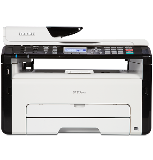 RICOH SP 213SNw Black and White Laser Multifunction Printer