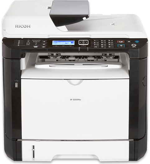 RICOH SP 325SFNw Black and White Laser Multifunction Printer