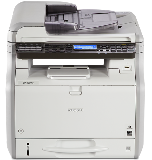 RICOH SP 3600SF Black and White Multifunction Printer