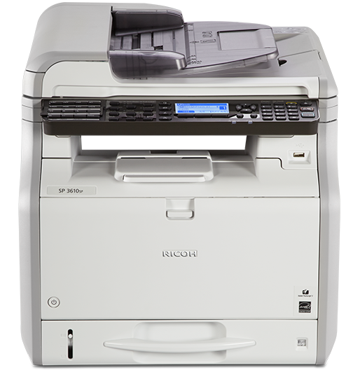 RICOH SP 3610SF Black and White Multifunction Printer