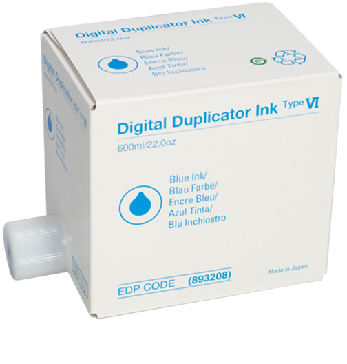 RICOH Blue InkDigital Duplicator - Type VI - 893208