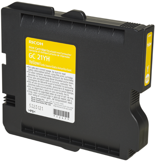 RICOH Yellow Print Cartridge High YieldGC 21YH - 405539