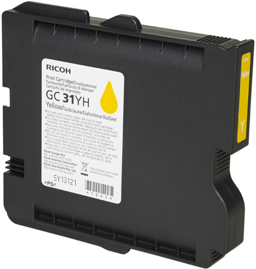 RICOH GC 31YH Yellow Print Cartridge  - 405704