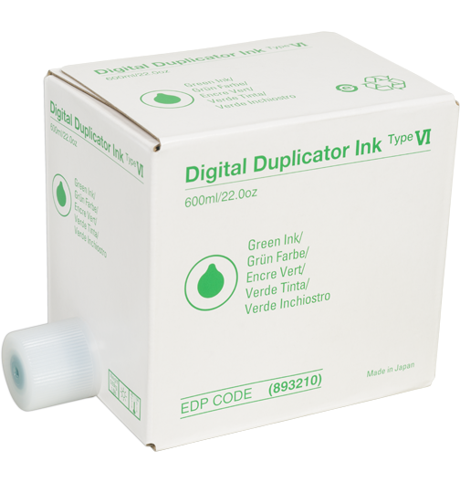 RICOH Type VI Green Digital Duplicator Ink - 893210